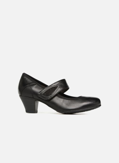 High heels Jana shoes LUGA Black back view