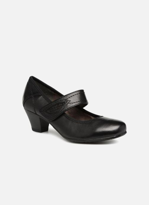 High heels Jana shoes LUGA Black detailed view/ Pair view