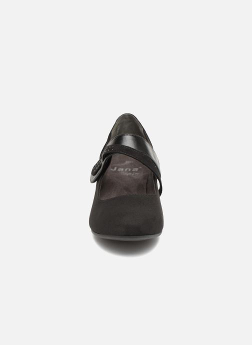 High heels Jana shoes ABURA Black model view