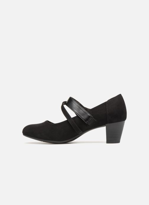 High heels Jana shoes ABURA Black front view