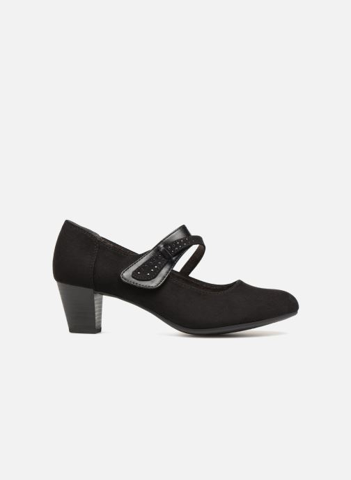High heels Jana shoes ABURA Black back view