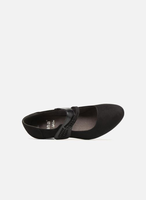 High heels Jana shoes ABURA Black view from the left