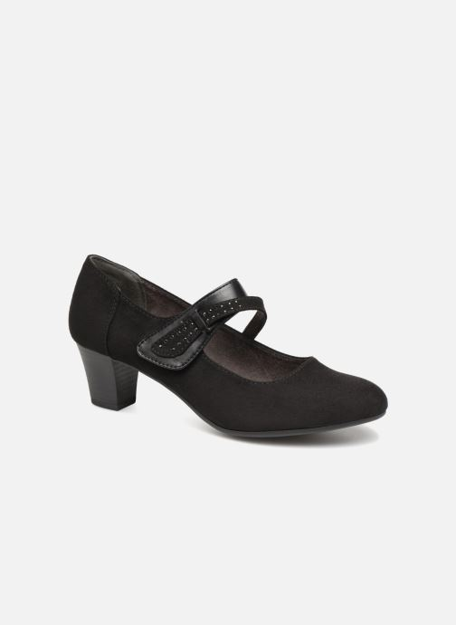 High heels Jana shoes ABURA Black detailed view/ Pair view