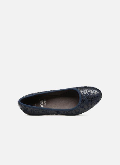 Escarpins Jana shoes ZATORA Bleu vue gauche