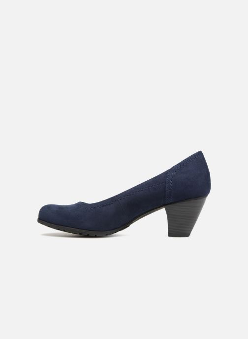 High heels Jana shoes LUBIA Blue front view