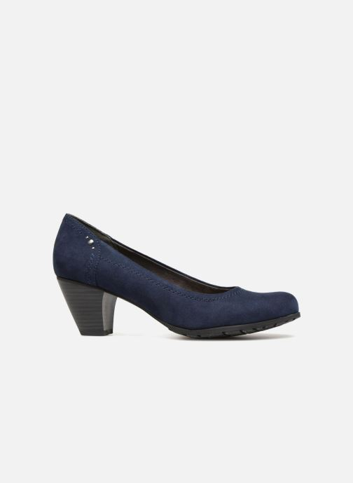 High heels Jana shoes LUBIA Blue back view