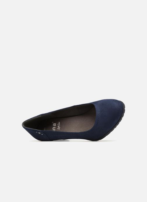 High heels Jana shoes LUBIA Blue view from the left