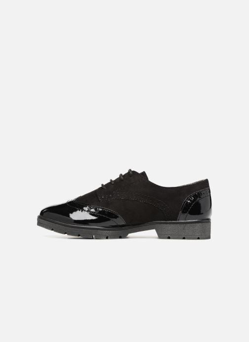 Schnürschuhe Jana shoes MELOC schwarz ansicht von vorne