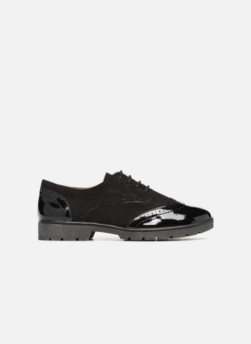 Schnürschuhe Jana shoes MELOC schwarz ansicht von hinten