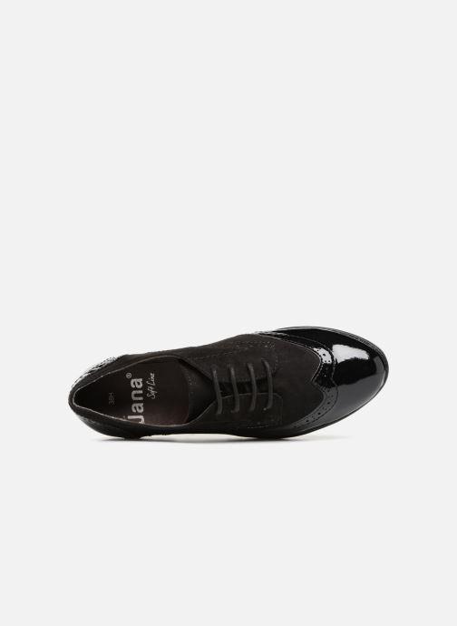Schnürschuhe Jana shoes MELOC schwarz ansicht von links