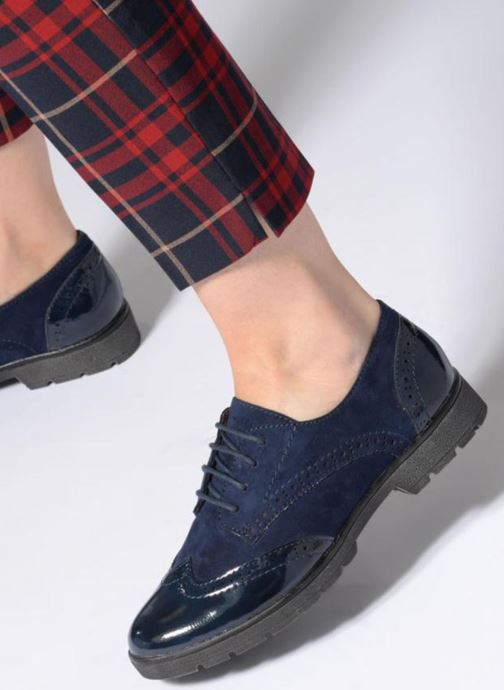 Lace-up shoes Jana shoes MELOC Blue view from underneath / model view