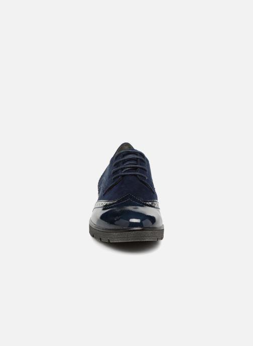 Scarpe con lacci Jana shoes MELOC Azzurro modello indossato