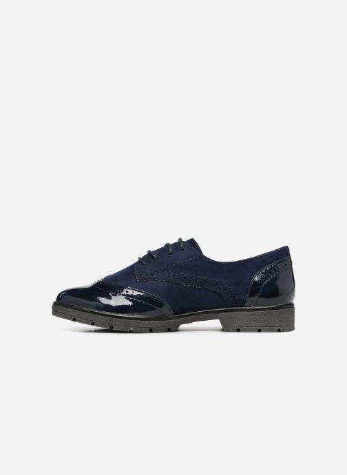 Lace-up shoes Jana shoes MELOC Blue front view