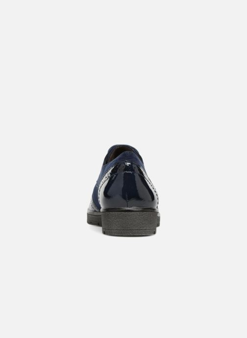Lace-up shoes Jana shoes MELOC Blue view from the right
