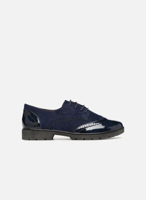 Lace-up shoes Jana shoes MELOC Blue back view