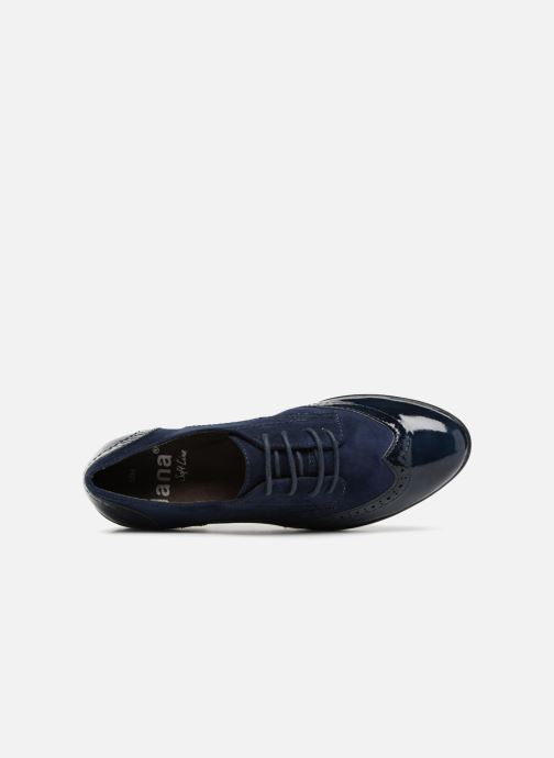 Veterschoenen Jana shoes MELOC Blauw links