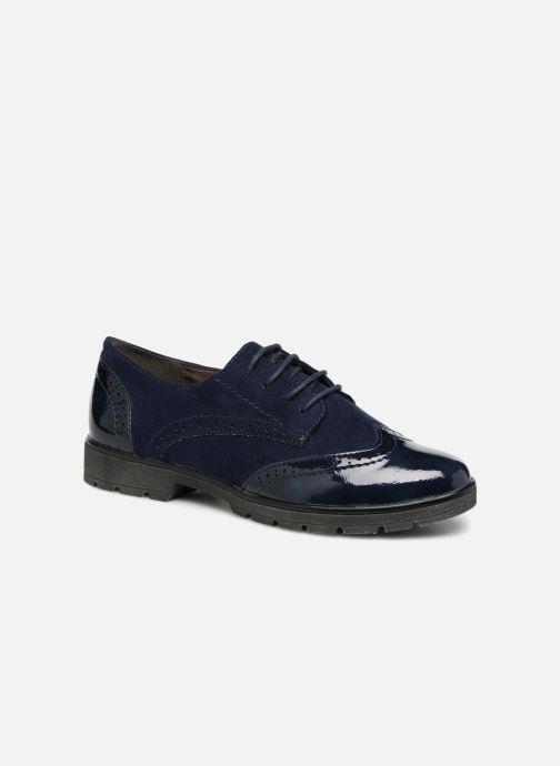Lace-up shoes Jana shoes MELOC Blue detailed view/ Pair view
