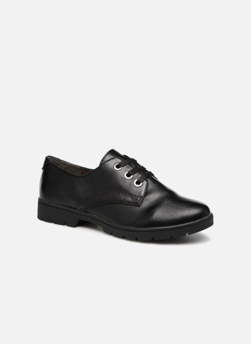 Lace-up shoes Jana shoes MELOC Black detailed view/ Pair view