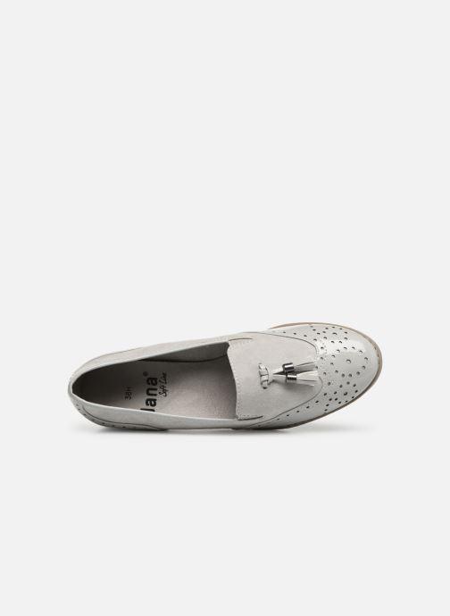 Mocassins Jana shoes MOUNIA Gris vue gauche