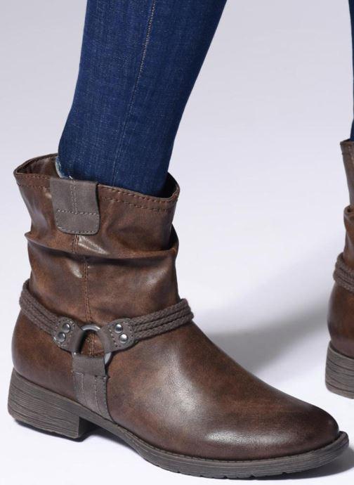 Bottines et boots Jana shoes SAVIE Noir vue bas / vue portée sac
