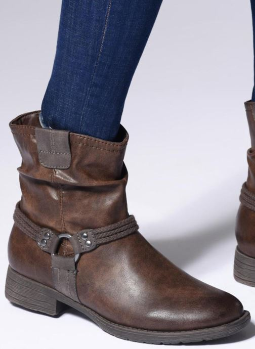 Ankle boots Jana shoes SAVIE Blue view from underneath / model view