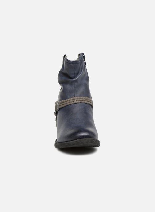 Stivaletti e tronchetti Jana shoes SAVIE Azzurro modello indossato
