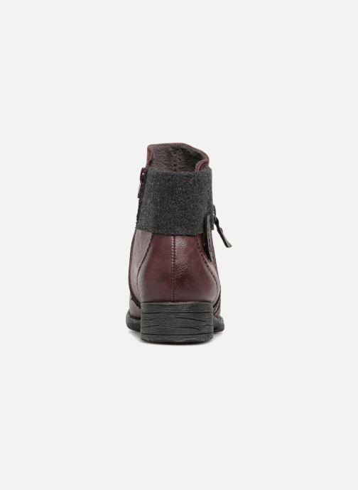 Boots en enkellaarsjes Jana shoes LORETTA Bordeaux rechts