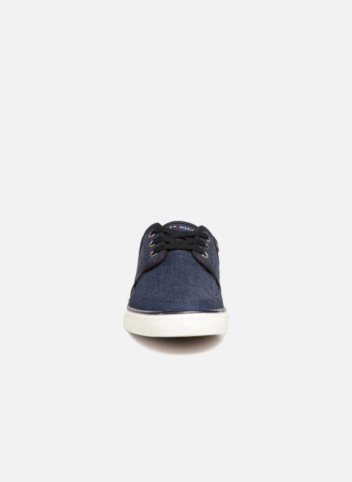 Sneaker Tommy Hilfiger Core Seasonal Textile Sneaker blau schuhe getragen