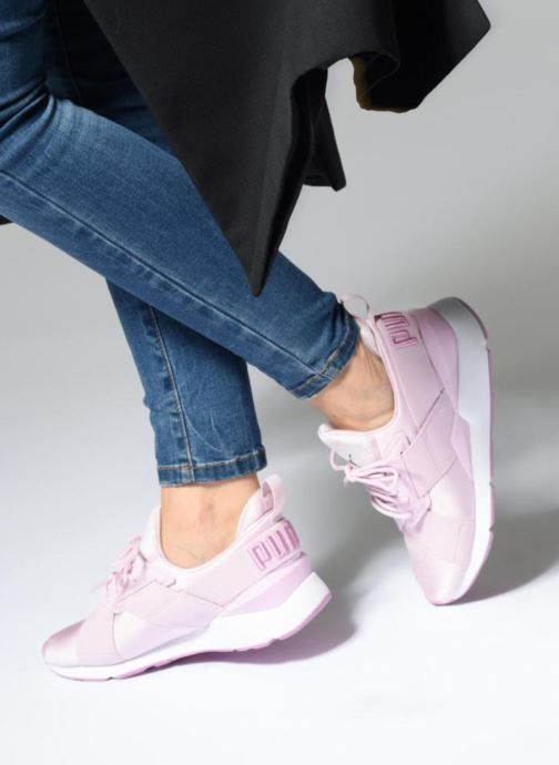 Sneaker Puma Wn Muse Satin Ii lila ansicht von unten / tasche getragen
