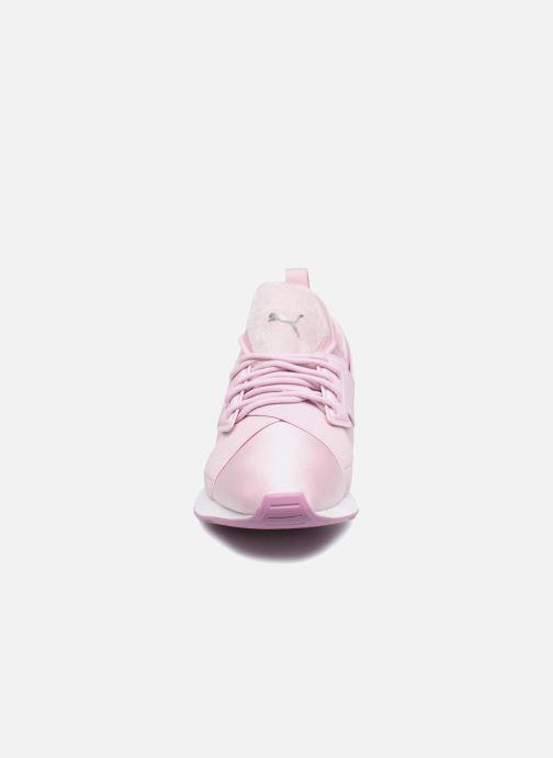 Baskets Puma Wn Muse Satin Ii Violet vue portées chaussures