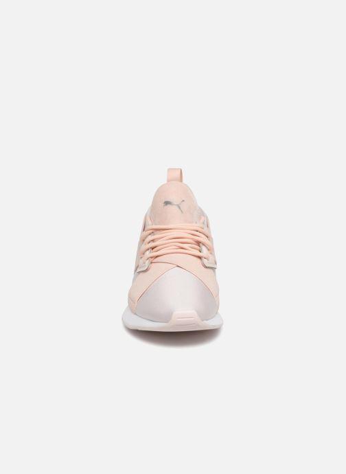 Baskets Puma Wn Muse Satin Ii Gris vue portées chaussures