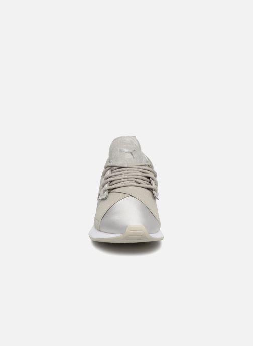 Sneaker Puma Wn Muse Satin Ii grau schuhe getragen