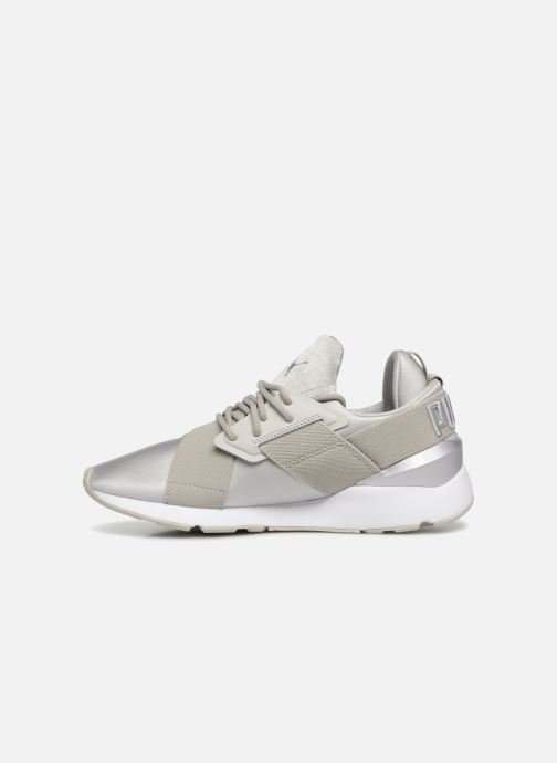 Baskets Puma Wn Muse Satin Ii Gris vue face