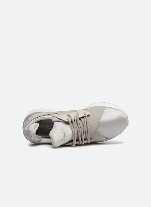 Sneaker Puma Wn Muse Satin Ii grau ansicht von links