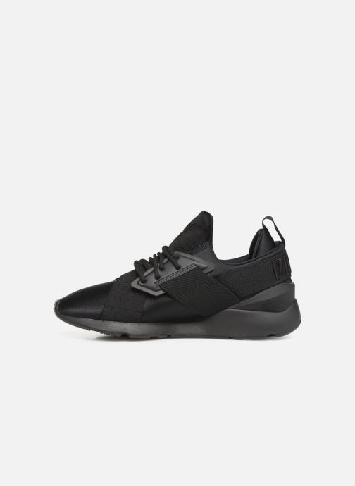 Trainers Puma Wn Muse Satin Ii Black front view