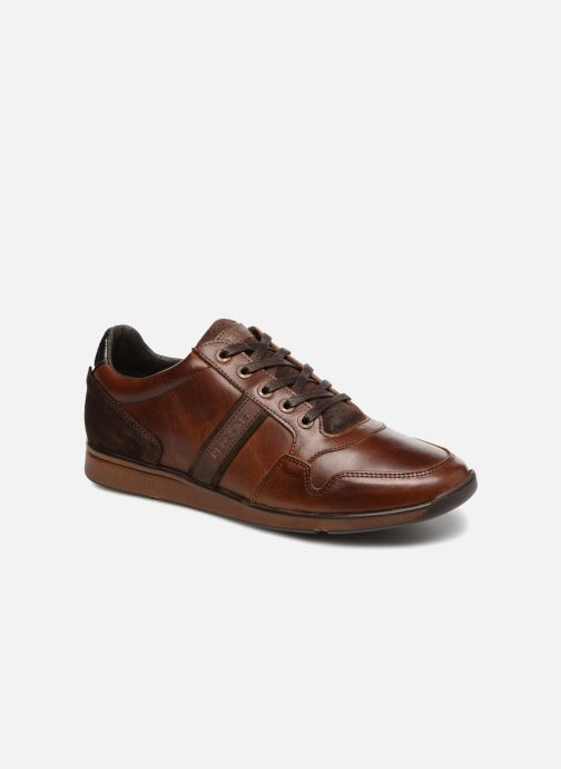 Chaussures Baskets Redskins homme Crepino taille Marron Cuir Lacets