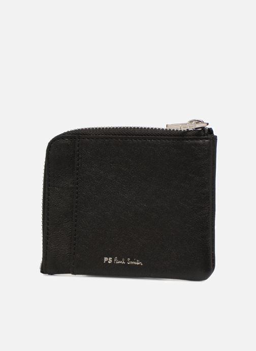 Petite Maroquinerie PS Paul Smith Men Corner Zip Wallet Zebra Noir vue droite