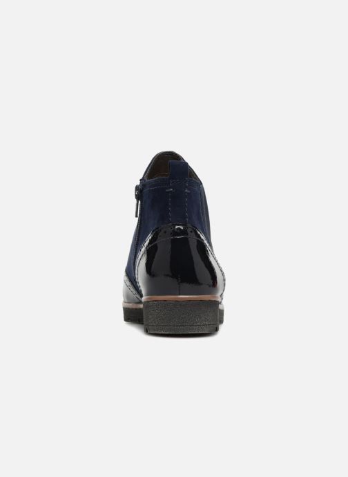 Ankle boots Jana shoes AMBER Blue view from the right
