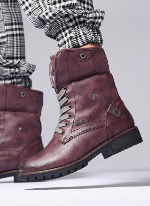 Bottines et boots Jana shoes RUT Bordeaux vue bas / vue portée sac