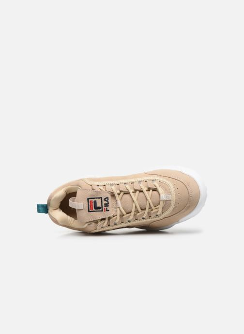 Baskets FILA Disruptor S Low Beige vue gauche