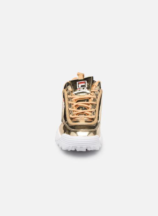 Baskets FILA Disruptor M Low W Or et bronze vue portées chaussures