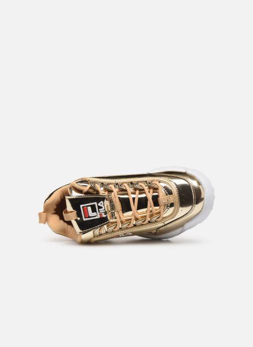Baskets FILA Disruptor M Low W Or et bronze vue gauche