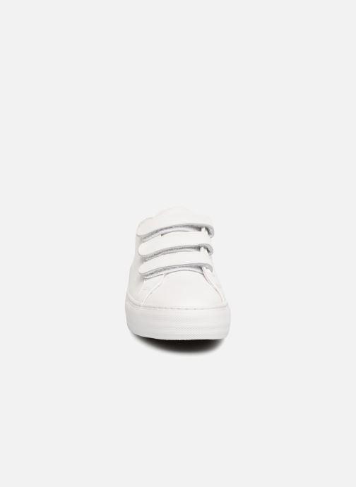 Sneakers No Name Arcade Straps Nappa Bianco modello indossato