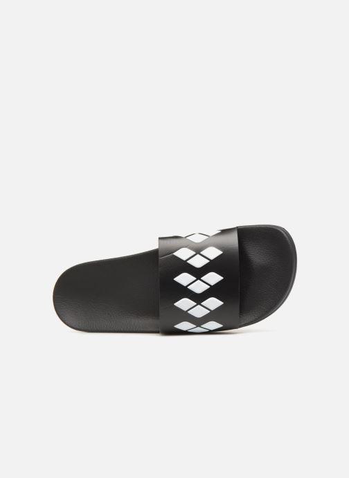 Zapatillas de deporte Arena Team Stripe Slide Negro vista lateral izquierda