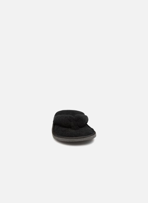 Pantuflas Sarenza Wear Chaussons tongue Femme Negro vista del modelo