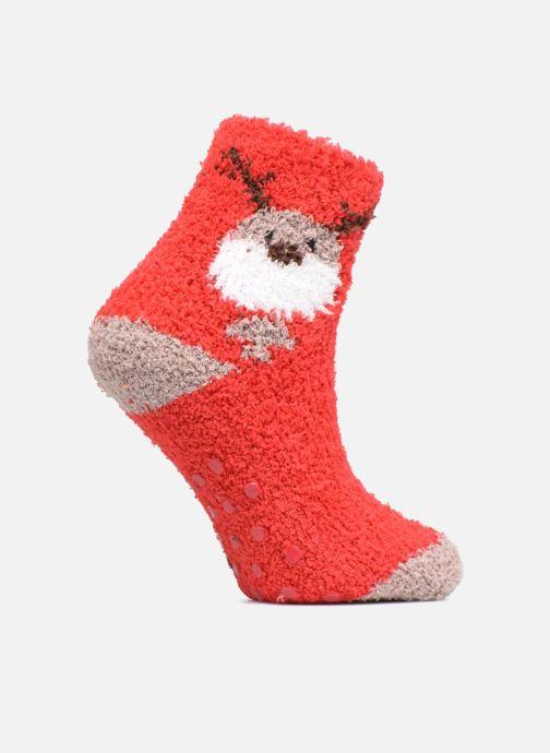 Chaussettes et collants Sarenza Wear Chaussons Chaussettes de Noël anti-dérapantes Enfant Rouge vue détail/paire