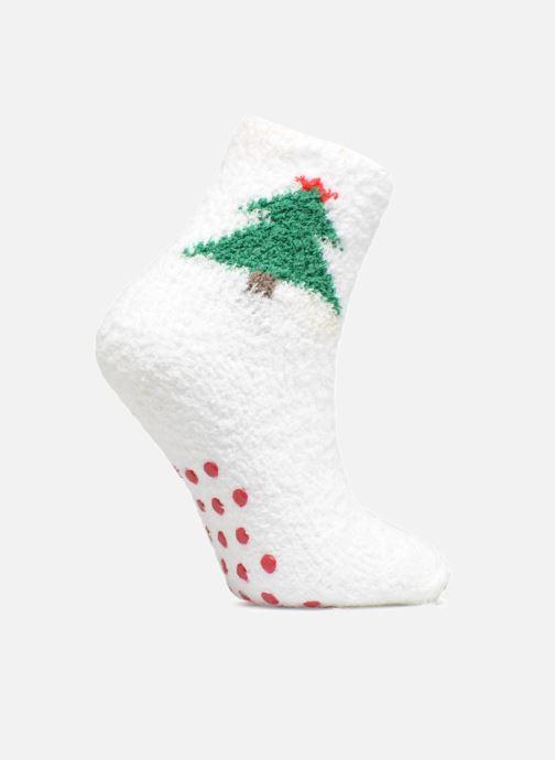 Chaussettes et collants Sarenza Wear Chaussons Chaussettes Enfant Noël  Blanc vue détail paire 87859fca5179