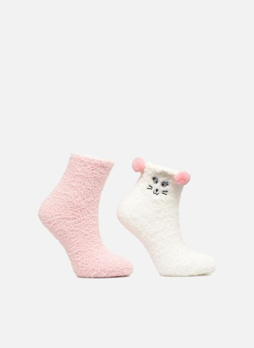 Chaussettes et collants Sarenza Wear Chaussons Chausettes Fille Mignons Lot de 2 Multicolore vue détail/paire