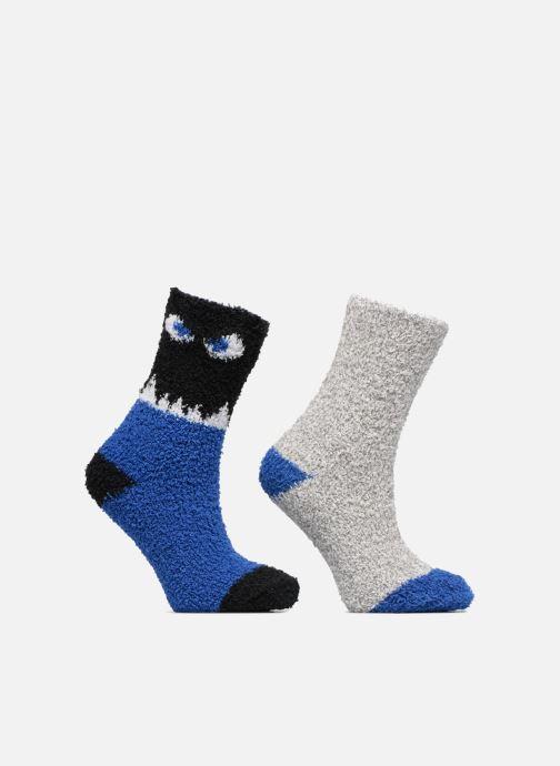 Chaussettes et collants Sarenza Wear Chaussons Chaussettes Garçons Monstre Lot de 2 Bleu vue détail/paire