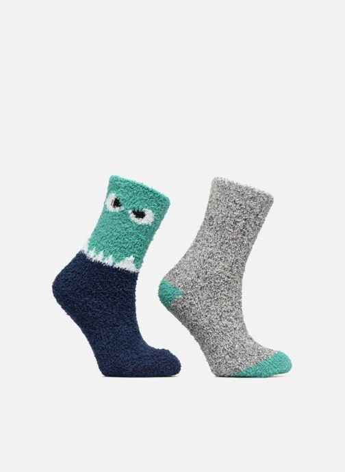 Socks & tights Sarenza Wear Chaussons Chaussettes Garçons Monstre Lot de 2 Green detailed view/ Pair view